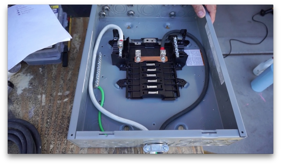 Remarkable Ac Power Part1 Installing A 120V Load Center Beginning From Wiring Cloud Hisonuggs Outletorg