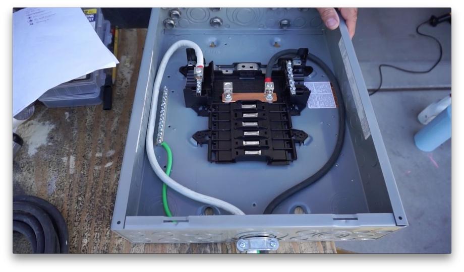 Sensational Ac Power Part1 Installing A 120V Load Center Beginning From Wiring Digital Resources Remcakbiperorg