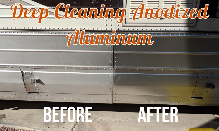 Deep Cleaning the Anodized Aluminum