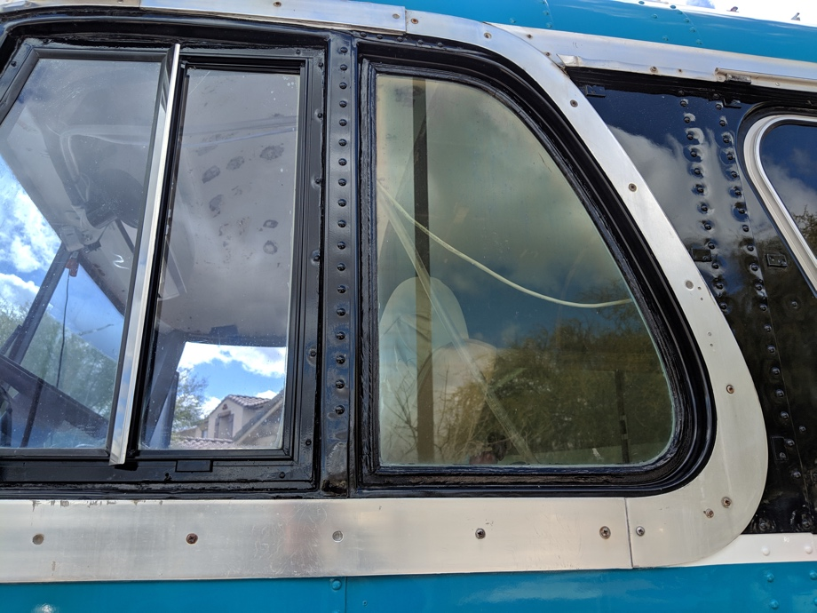 Replacing Side Windows on a Vintage Bus | Beginning from