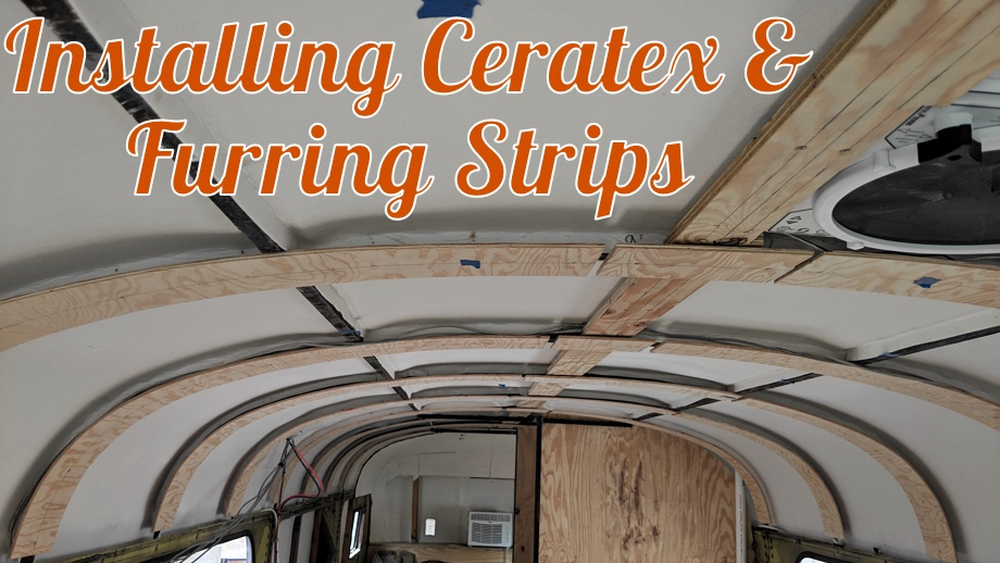 Installing CeraTex and Furring Strips