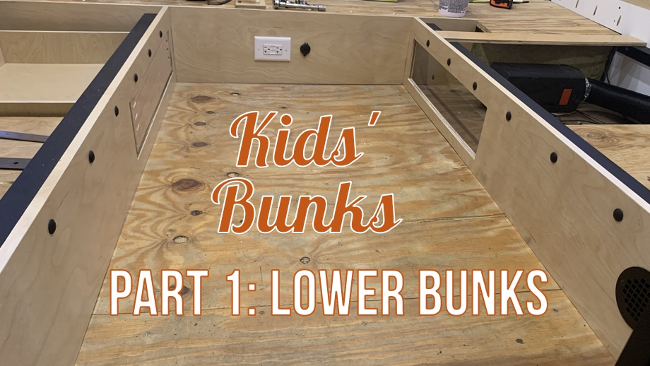 Kids' Bunk Room: Part 1 - Lower Bunks