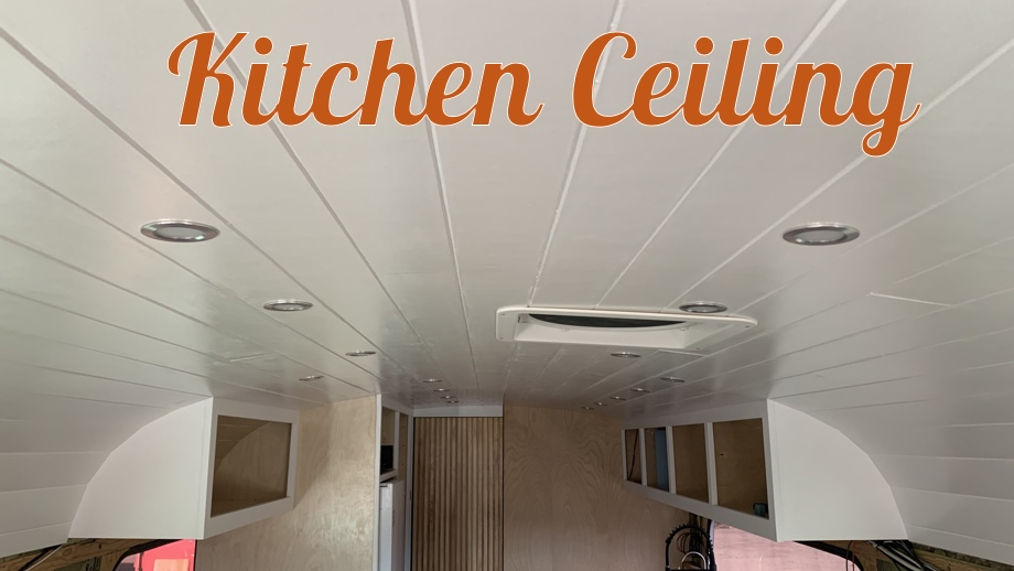 Ceiling Planks in the Kitchen & Living Room